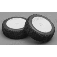 LC Racing Buggy Font Tire set (White)