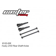 Caster Racing B102-008 Husky 2WD Rear Shaft+Axles