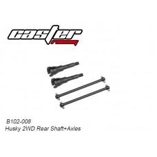 Caster Racing B102-008 Husky 2WD Rear Shaft+Axles
