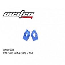 S16OP008 1/16 Alum L&R C-Hub Sets