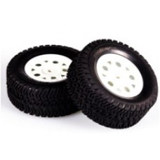 LC Racing 1/14 DT/SC Tire Set White