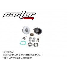 S16B022 Full Gear Differential Set Plastic Ring Gear