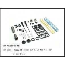 BB-01-YE  Buggy BB Shock Set F (1.4mm Yellow) (1.5mm Blue)