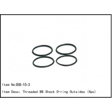 BB-15-3  Threaded BB Shock O-ring Outsides (4pc)