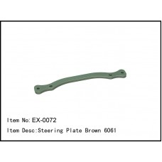 EX-0072  Steering Plate Brown 6061