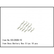 EX-0506-10   Battery Box Clips 10 pcs