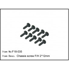 F18-035  Chassis screw F/H 2*12mm