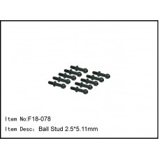 F18-078  Ball Stud 2.5*5.11mm
