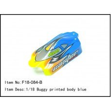 F18-084-B   1/18 Buggy printed body blue