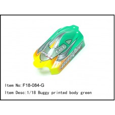 F18-084-G   1/18 Buggy printed body green