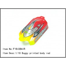 F18-084-R  1/18 Buggy printed body red