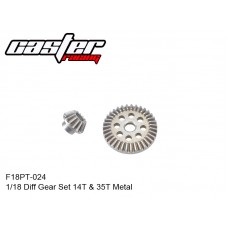 F18PT-024  1/18 Diff Gear Set 14T & 35T Metal