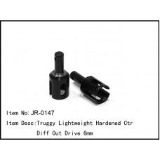 JR-0147  Truggy Lightweight Hardened Ctr Diff Out Drive 6mm