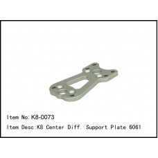 K8-0073  K8 Center Diff. Support Plate 6061