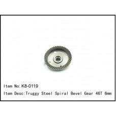 K8-0119  Truggy Steel Spiral Bevel Gear 46T 6mm