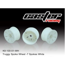 K8-0100-01-WH  Truggy Spoke Wheel -7 Spokes White,LPR