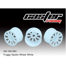 K8-0100-WH  Truggy Spoke Wheel White