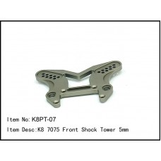 K8PT-07  K8 7075 Front Shock Tower 5mm