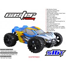 SK16T S16T RTR001   Caster Racing 1/16 EP Off Road Truggy 4WD - RTR Brushless