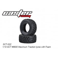 SCT-022	1/10 SCT #8600 Maximum Traction tyres with Foam