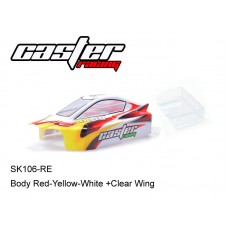 SK106-RE  Body Red-Yellow-White +Clear Wing