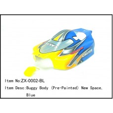 ZX-0002-BL  Buggy Body (Pre-Painted) New Space,Blue