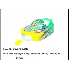 ZX-0002-GR   Buggy Body (Pre-Painted) New Space,Green