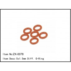 ZX-0078  5x1.5mm Diff. O-Ring