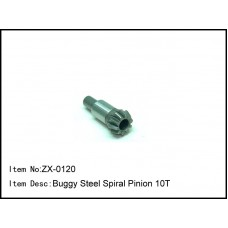 ZX-0120  Buggy CNC Steel Racing Spiral Pinion 10T